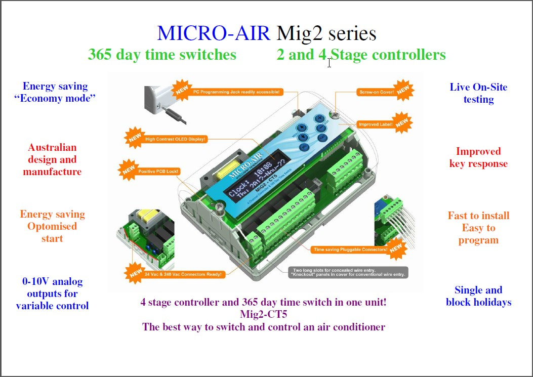 Mig2 Series Poster micro air why choose micro air versatile 365 day time switch  at aneh.co